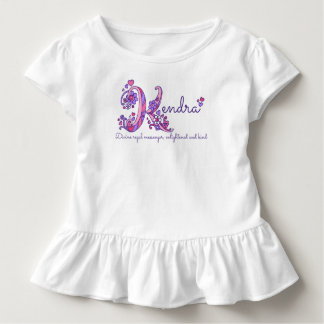 Kendra girls K name meaning monogram tee