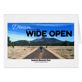 Kendrick Mountain Peak Photo In Dry Brush Filter Card