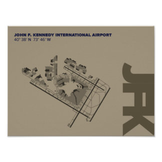 Kennedy Airport (JFK) Diagram Poster