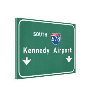 Kennedy Airport JFK I-678 NYC New York City NY Canvas Print