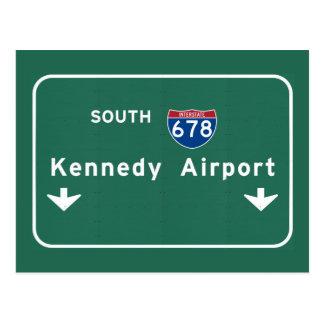 Kennedy Airport JFK I-678 NYC New York City NY Postcard