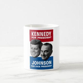 Kennedy And Johnson 1960 Election Poster Basic White Mug