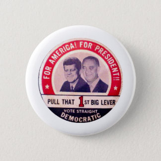 Kennedy and Johnson Campaign 6 Cm Round Badge
