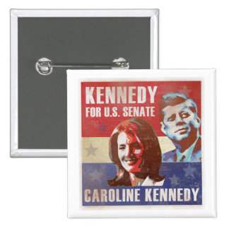 Kennedy Begins Campaign For Senate 15 Cm Square Badge