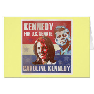 Kennedy Begins Campaign For Senate Greeting Card
