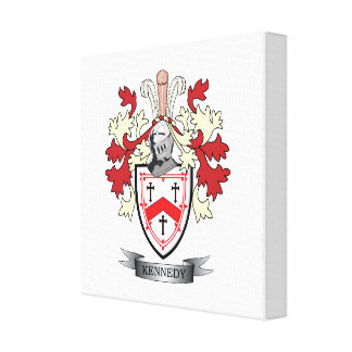 Kennedy Family Crest Coat of Arms Canvas Print
