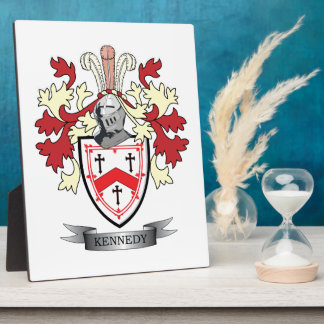 Kennedy Family Crest Coat of Arms Plaque