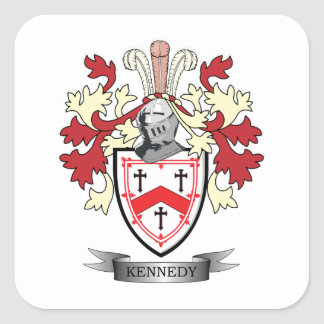 Kennedy Family Crest Coat of Arms Square Sticker