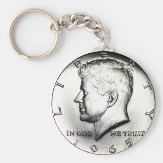 Kennedy Half Dollar Key Chain. Key Ring