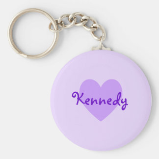 Kennedy in Purple Basic Round Button Key Ring