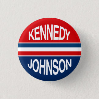 Kennedy Johnson 1960 Campaign Button