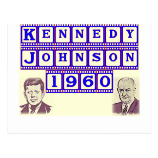 Kennedy-Johnson 1960 Postcard