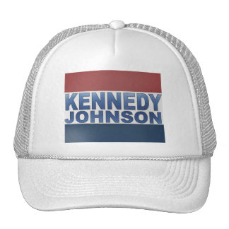 Kennedy Johnson Campaign Hats