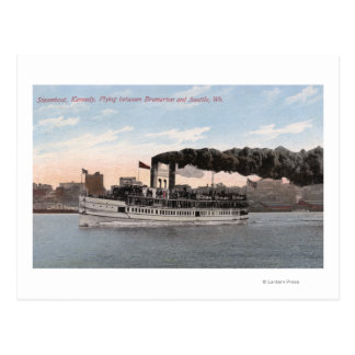 Kennedy Steamboat Leaving for Bremerton Postcard