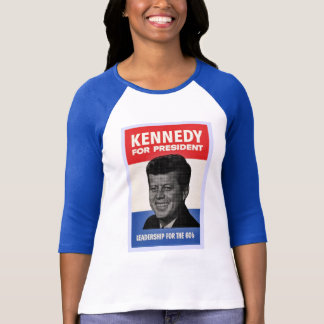Kennedy Vintage style half tone poster shirt