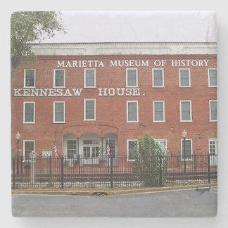 Kennesaw House Marietta, Ga. Marble Stone Coaster. Stone Coaster