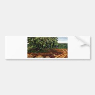 Kenneth_Cobb_landscapesketch2_2001_OilonBoard_12in Bumper Sticker