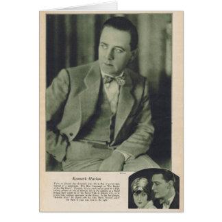Kenneth Harlan silent movie star Greeting Card