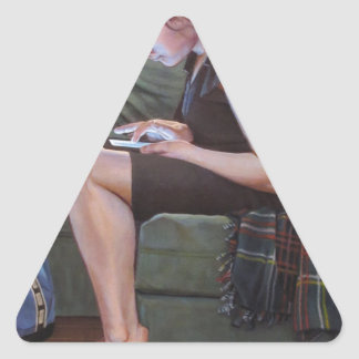 Kennneth_Cobb_Lapse_2013_OilonCanvas_36x30in_300dp Triangle Sticker