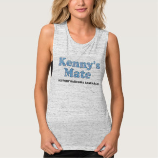 Kenny's Mate Blue Paisley Pattern Muscle Singlet