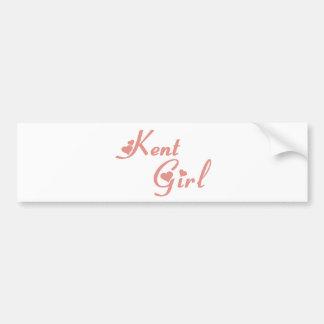 Kent Girl tee shirts Car Bumper Sticker