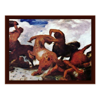 Kentaurenkampf By Böcklin Arnold Postcard