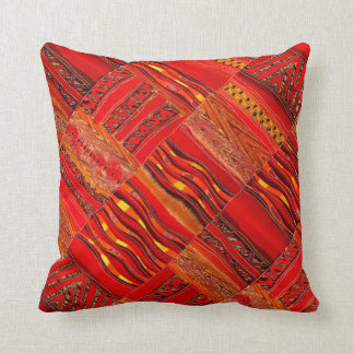Kente in red on red cushion