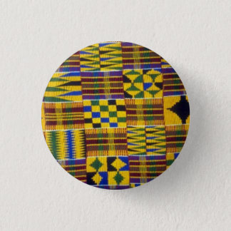 kente rhapsody 3 cm round badge