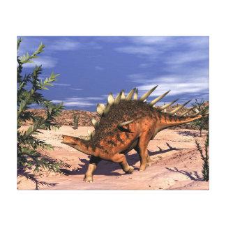Kentrosaurus dinosaur - 3D render Canvas Print