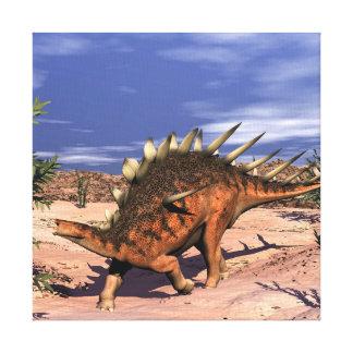 Kentrosaurus dinosaur canvas print