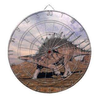 Kentrosaurus dinosaur in the desert - 3D render Dartboard