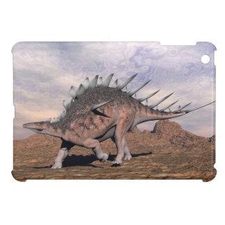 Kentrosaurus dinosaur in the desert - 3D render iPad Mini Cover