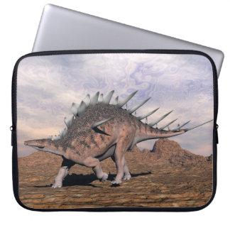 Kentrosaurus dinosaur in the desert - 3D render Laptop Sleeve