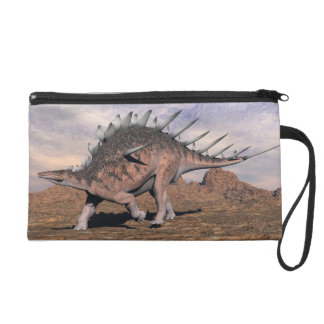 Kentrosaurus dinosaur in the desert - 3D render Wristlet