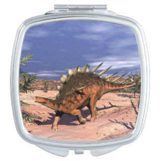 Kentrosaurus dinosaur makeup mirror