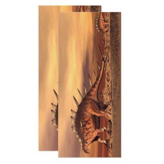 Kentrosaurus dinosaurs mum and baby - 3D render Card