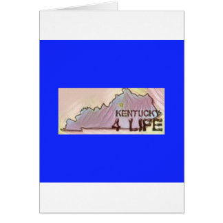 """Kentucky 4 Life"" State Map Pride Design Card"