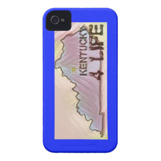 """Kentucky 4 Life"" State Map Pride Design iPhone 4 Cases"