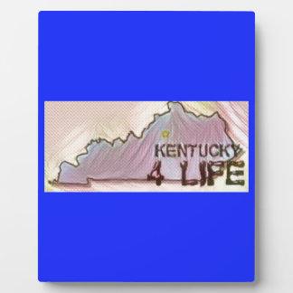 """Kentucky 4 Life"" State Map Pride Design Plaque"