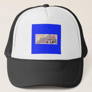 """Kentucky 4 Life"" State Map Pride Design Trucker Hat"