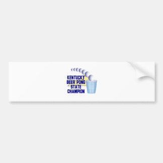 Kentucky Beer Pong Champion Bumper Sticker