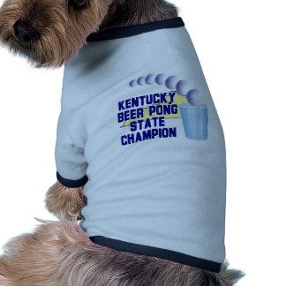 Kentucky Beer Pong Champion Dog Tee Shirt