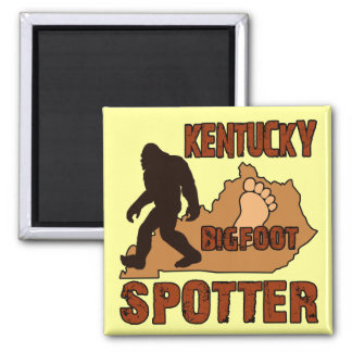 Kentucky Bigfoot Spotter Square Magnet