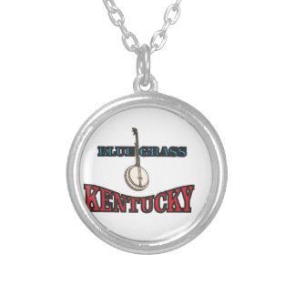 Kentucky Bluegrass art Silver Plated Necklace