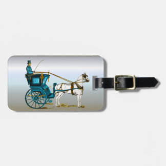 Kentucky Bluegrass Horse and Buggy Luggage Tag