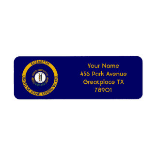 Kentucky Bluegrass State Personalized Flag Return Return Address Label