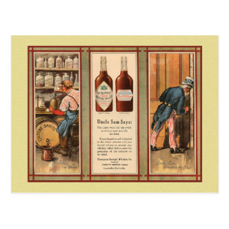 Kentucky Bourbon Uncle Sam Prohibition Postcard