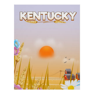 Kentucky Cute Farm travel poster