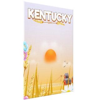 Kentucky Cute Farm travel poster Canvas Print