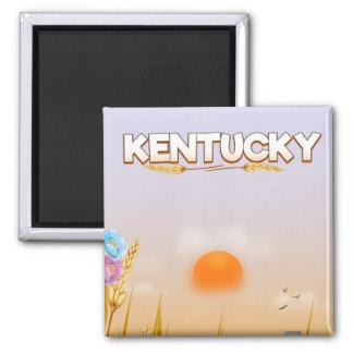 Kentucky Cute Farm travel poster Magnet